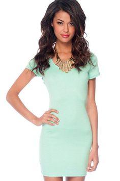 Go Back Across Dress in Mint $21 at www.tobi.com
