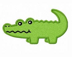 Instant Download Alligator Baby Applique by JoyousEmbroidery