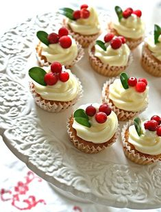 Heavenly Cupcake | Mini, mini cupcakes med pepparkaksmak | http://heavenlycupcake.se