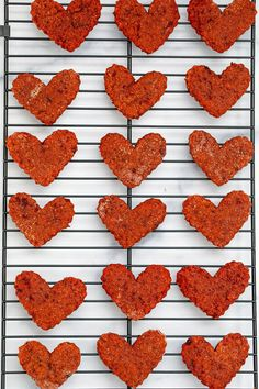 Heart-shaped beet cookies for dogs just out of the oven on baking rack Valentine Status, Valentines Day Hearts, Be My Valentine, Love Beets, Fresh Beets, Natural Food Coloring, Pink Food Coloring, Sour Cream Icing, Vegetable Prints
