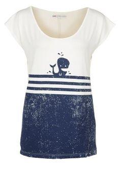 whale - Even&Odd - T-Shirt print - offwhite