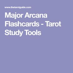 Major Arcana Flashcards - Tarot Study Tools