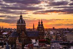 Amsterdam view sky lounge