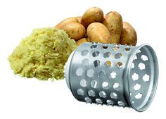 besonders geeignet für Reibeplätzchen oder Kartoffelknödel Edelstahl, Ø 75 mm
