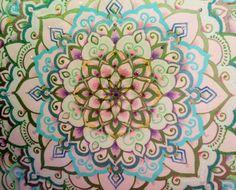 Detail of my Mandala Lotus Goddess          blissd-art.com