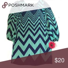 Fall dress This dress is perfect for fall time. Longer quarter length sleeves. Looks great with or without leggings.  Dark navy and turquoise zig zag design.  Size small.  Perfect condition. Worn once. Dresses Midi