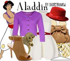 Disney Bound - Aladdin---except the bowler hat. Cute Disney, Disney Girls, Disney Style, Disney Nerd, Disney Princess, Disney Themed Outfits, Disney Bound Outfits, Aladdin, Disney Dress Up