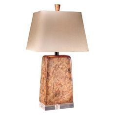 (CLICK IMAGE TWICE FOR UPDATED PRICING AND INFO) #home #homeimprovement #homedecor #lighting #lamps #lights #lightandfixture #tablelamps   see more table lamps at http://www.zbrands.com/Lamps-C40.aspx - Minka Ambience Lamps - Table Lamp in Tuscan Marble