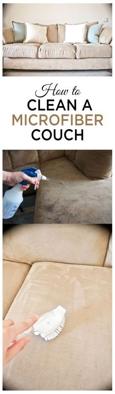 Cleaning microfiber couches, how to clean a microfiber couch, cleaning tips, popular pin, clean home, cleaning, clean couches.