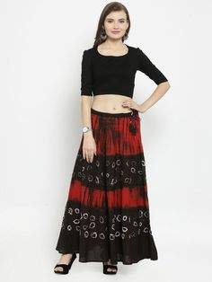 f8381db217 New Indian Women bandhani and shiburi ALine Ladies Hand Printed Midi Long  Skirt
