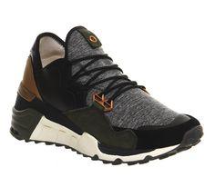 Adidas Y3 Wedge Sock Run Cargo Black Marl - Womens sneakers