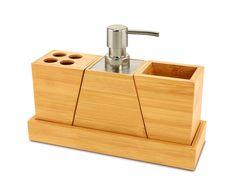 Amazon.com - Elegant and Stylish Bamboo Bathroom Set -