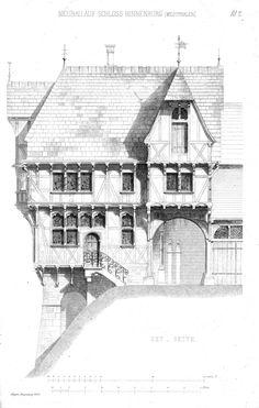 Reconstruction design for Hinnenburg Castle, Germany