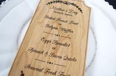 DIY Printable Mother's Day Menu   Created with the Silhouette