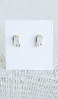 Katie Diamond Moonstone Studs