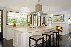 Bright and Cozy Kitchen. (Kim Kardashian's LA home)