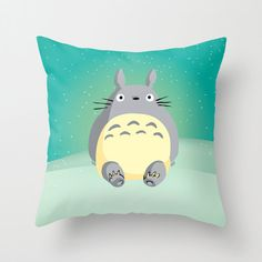 Adorable Totoro, on a cuddly pillow. Great gift for Studio Ghibli fans. Perfect for your cosy bedroom or for a nursery.  This is an original