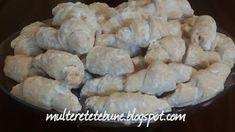 RETETE: Cornulete cu untura Deserts, Dairy, Cheese, Cookies, Chicken, Food, Crack Crackers, Biscuits, Essen