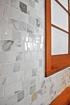 Endless shades of grey. Mosaic. #kitchen #mosaic #tile