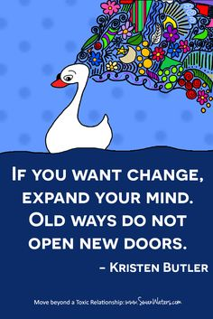 Remember that song: Free your mind, and the rest will follow. That's how it really goes! http://swanwaters.com/join/