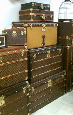 Louis Vuitton Trunks.  Lovely.