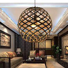 12W Lampe suspendue , Rétro Autres Fonctionnalité for LED Bois/BambouSalle de séjour Chambre à coucher Salle à manger Bureau/Bureau de de 4977569 2017 à €81.33