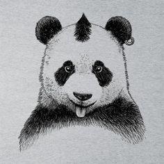 2905fe01 Punky Panda Men's T-Shirt by Albertocubatas - Cloud City 7 Cloud City, Pet
