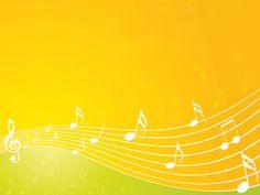 音符イラスト「流れる楽譜-オレンジ」- 無料のフリー素材