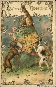 A true WTF Easter postcard.