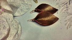 Leaf Earrings, Teardrop Earrings, Leather Earrings, Leather Jewelry, Handmade Jewelry, Unique Jewelry, Handmade Gifts, Leather Leaf, Winter Trends