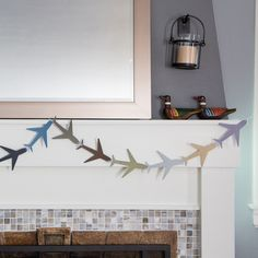 Airplane garland for an airplane themed birthday party.