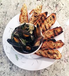 White Wine Mussels with Butter Fried Fennel- perfect to share outside on the patio #ShisoKitchen