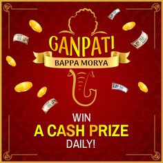 Celebrate Ganesh Chaturthi with our Daily Rewards! Login every day and play a minimum of one cash rummy game to win a guaranteed cash prize on the next day. Start playing! #Rummy