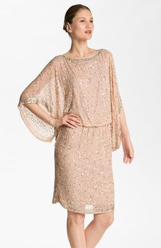 Patra Embellished Kimono Sleeve Silk Caftan Dress available at #Nordstrom   mom?