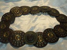 Vintage Antiqued Bronze Floral Studded Dark by JENSTARDESIGNS, $20.00