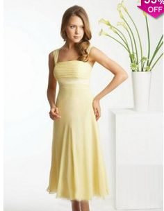 Sheath/Column Square Tea-length Chiffon Daffodil Party Dresses #AUSA016095 - See more at: http://www.avivadress.com/special-occasion-dresses/cocktail-dresses.html?p=3#sthash.Yy80MIT4.dpuf