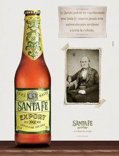 """Anúncio - """"A evolução da cerveja""""."""