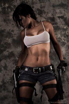 It's Lara Croft.