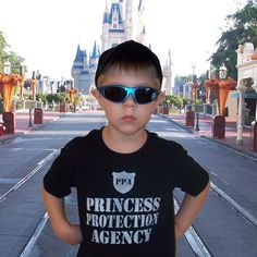 Princess Protection Agency T shirt :)  Perfect for my prince to wear while protecting his princess!  Oh, and not just Chad, I mean Wes to ;)