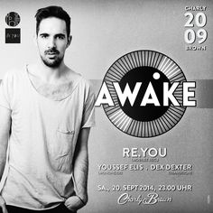 """Artwork of an event series called """"AWAKE"""". Client: CHARLY BROWN, Aachen - Date: 09/014"""
