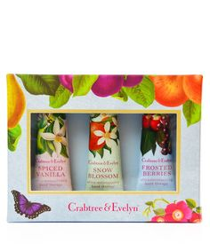 Limited Edition Christmas Hand Care Gift Set   Crabtree & Evelyn Hand Cream Gift Set,