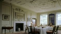 The Dining Room at Mompesson House, Wiltshre © NTPL/Peter Cook