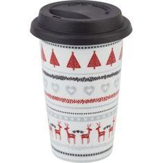 Homespun Folk Stripe Travel Mug #HomebaseMumsnetXmas