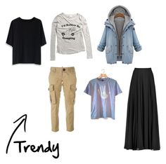 """""""Trendy pieces"""" by hayescomet on Polyvore featuring Chicwish, Halston Heritage and Dsquared2"""