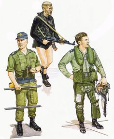"""• Israeli Navy missile boat officer; Beirut, Aug. 1982 • Israeli Naval Commando; Sidon, June 1982 • Israeli Air Force Kfir C-2 pilot, June 1982"", Ronald Volstad"