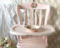 A personal favorite from my Etsy shop https://www.etsy.com/listing/463276529/shabby-vintage-wooden-highchair-jenny