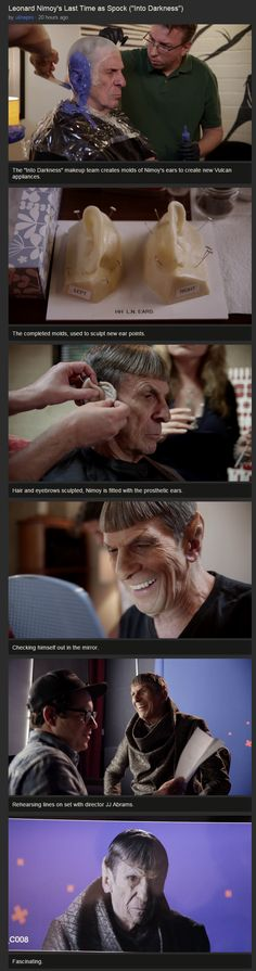 Leonard Nimoy's last turn as Spock, Star Trek Into Darkness | I love the smile