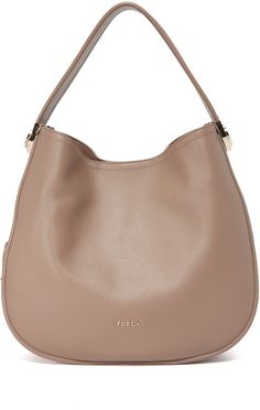 Furla Luna Hobo Bag - A roomy Furla hobo bag in rich leather. A decorative strap trims the exterior, and polished hardware details the magnetic top. Faille-lined, 3-pocket interior. Dust bag included.      Leather: Cowhide.     Weight: 25oz / 0.71kg.     Made in Italy.