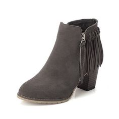 WeiPoot Womens Frosted Solid Closed-Toe Boots with Thread -- For more information, visit image link.
