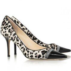 Jimmy Choo Zapatos Blend Leopard Print Black
